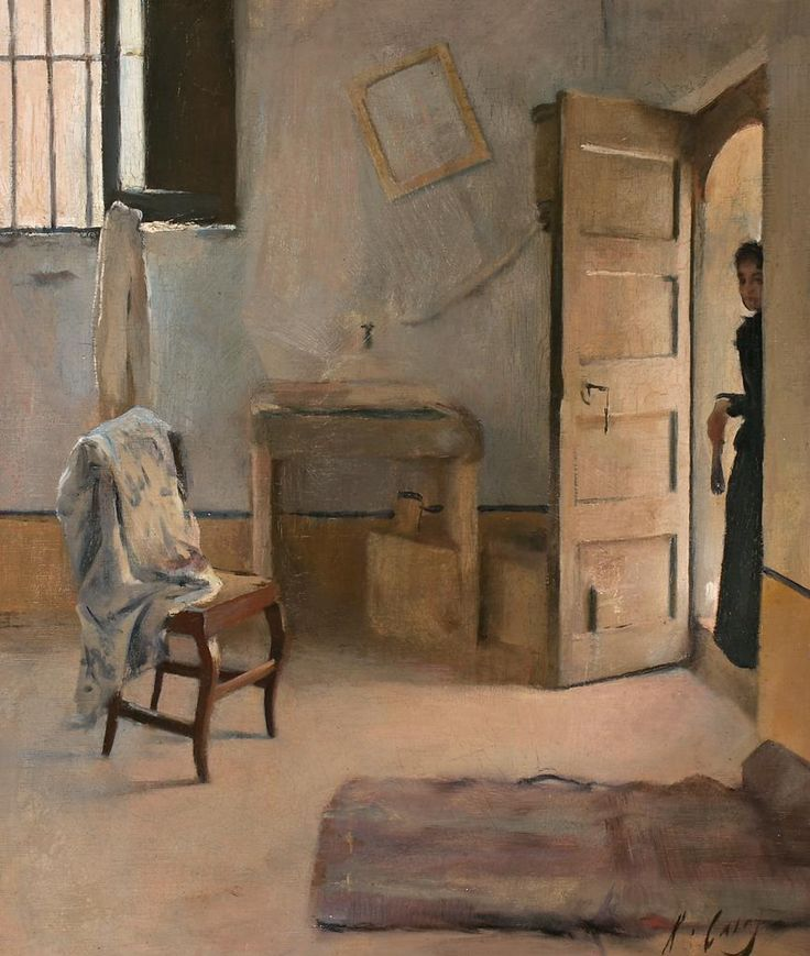 Ramon Casas (Catalan, 1866-1890), Una casa desordenada [A disorderly house], c.1890. Oil on canvas, 55 x 46 cm.