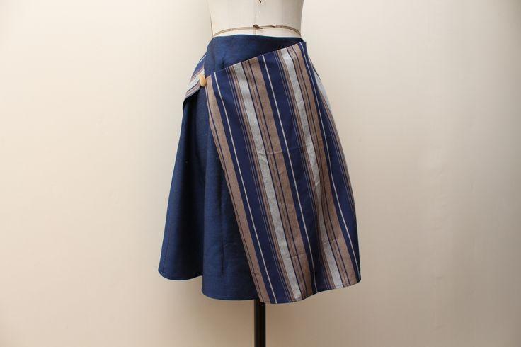 Download sewing pattern- Faux-Wrap Assymetric Skirt