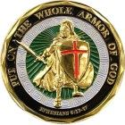 Colorized Armor of God Coin Ephesians Military