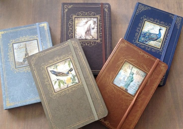 Beautiful antique styled note books with gold edging, the perfect travel diary www.twigsflorist.com.au