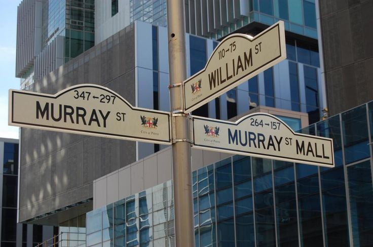 Street signs near city center of Perth commercialelectriciansperth.com.au