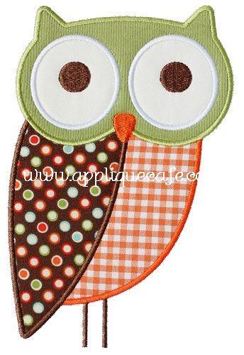 Applique designs owl and appliques on pinterest