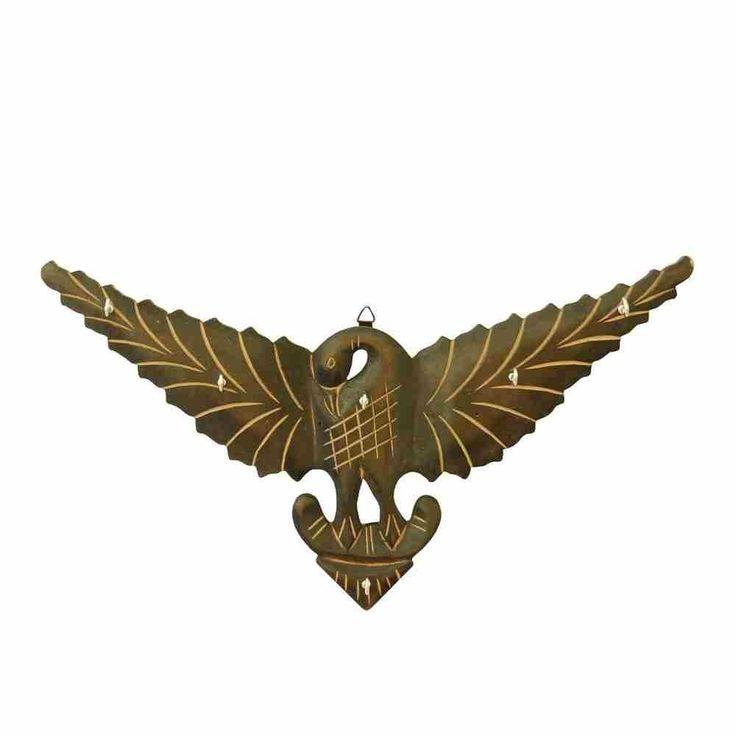 Wooden Eagle Key Holder - Big
