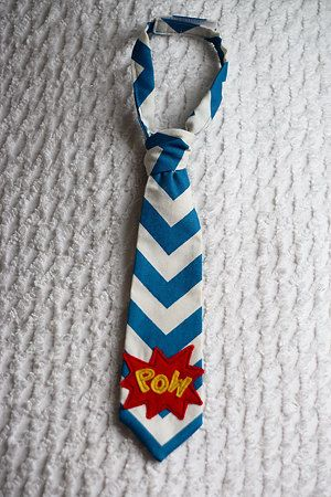 Not a Pattern, but simple enough to figure out: Chevron superhero neck tie for little boys
