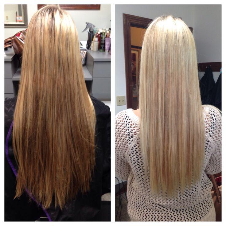 Long blonde hair. (Platinum Salon by Christina Sycamore, IL)