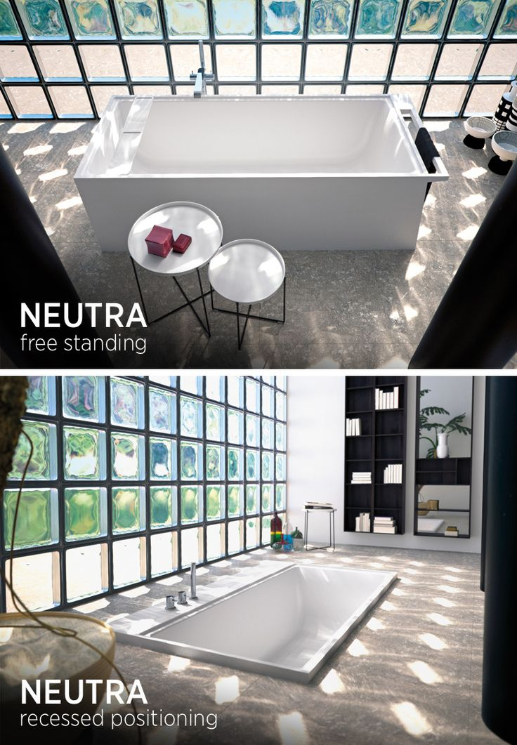 #NEUTRA bathtub system in ASTONE® Free-standing or recessed positioning? Which do you like best?