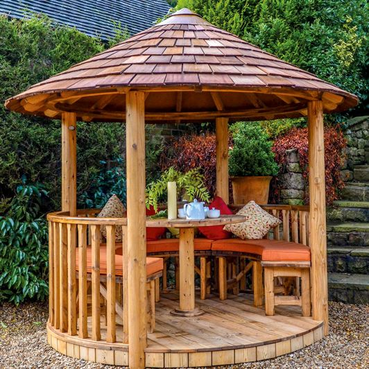 How stunning is the Mara Breeze House garden building? There's no better way to enjoy the outdoors all year round, this stunning garden building has plenty of room for hosting dinner parties or lounging in with a book at the weekend. View our full range online. #BreezeHouse #garden #gardenbuilding #gardeninspo #landscape #gardening