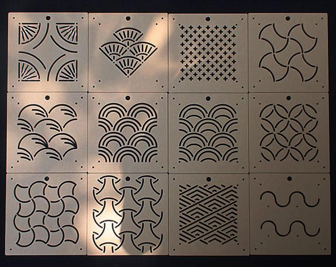 THEALESE Sashiko Stencil by Acrylic Quilting Stencil Counterweights Sashiko Embroidery Pattern
