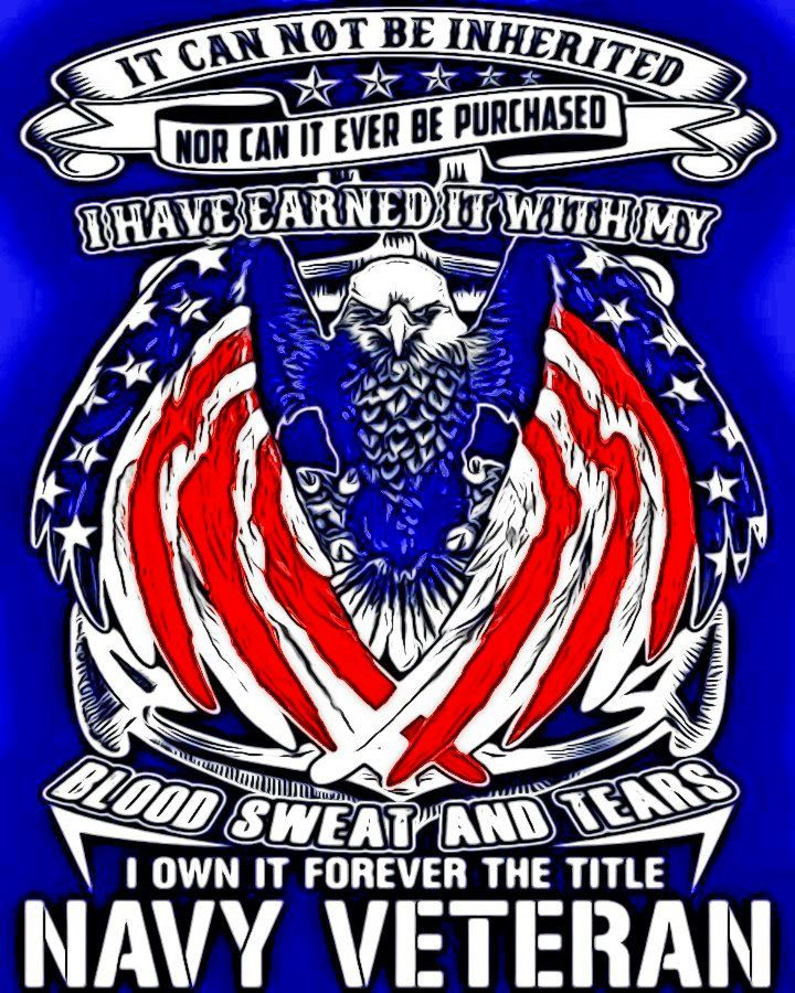 Awesome Art Cool Art Navy Veteran Veteran