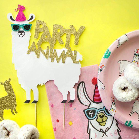 Lama Geburtstags Kuchen Deckel Lama Party Etsy