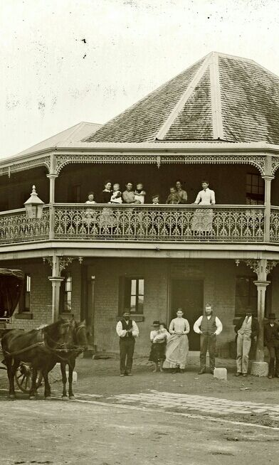 The Adamstown Hotel in New South Wales, photographed on the 9th of September, 1902.