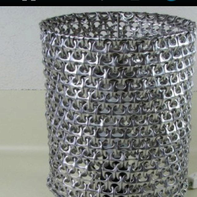 Recycled Aluminum Countertops : Trash can from soda tops things to do for pull tabs