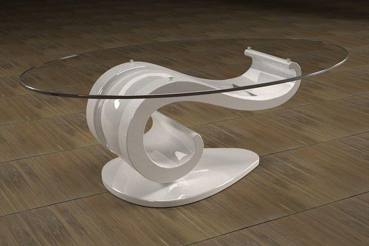 Articolo 62B-20     Tavolino da salotto LisaFinitura: laccato bianco lucido.Misure: cm 110 x 65 - Altezza: cm 37 - Peso: Kg. 51Vetro: ovale -  temperato - extrawhite - filo lucido - spessore 1 cm