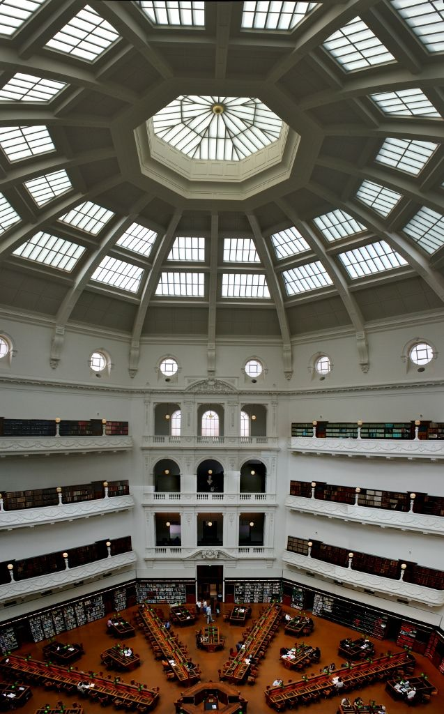 The State Library of Victoria: The Dome & Ned Kelly