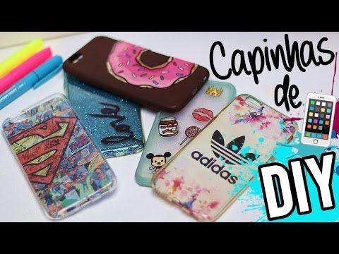 DIY: IDEIAS DE CAPINHAS DE CELULAR PRA VOCÊ TESTAR - YouTube