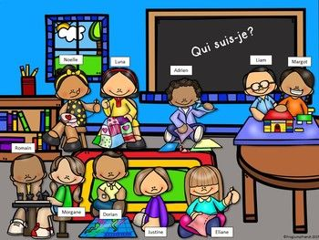 Jeu de comprehension de lecture La garderie// French reading game