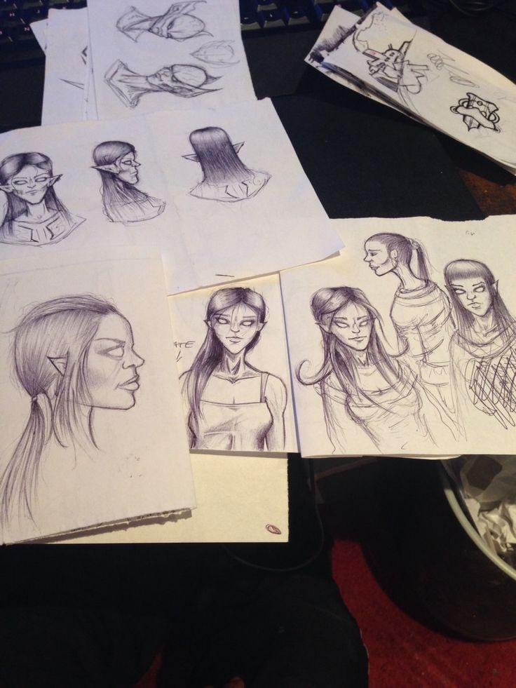 Sketching hair