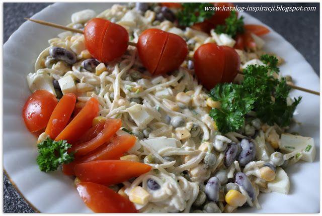 Katalog inspiracji: Sałatka warzywna z sosem majonezowo - musztardowym...