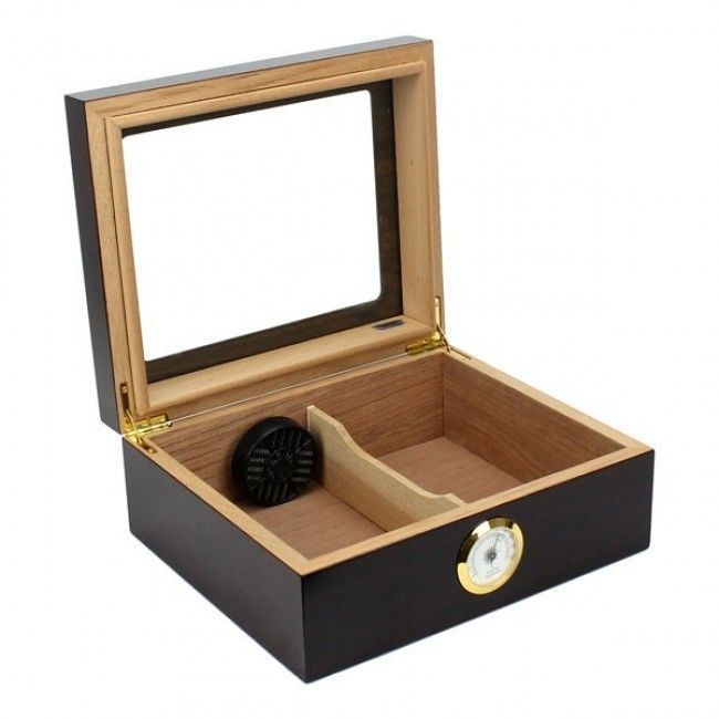 humidors for cigars | The Protege Glass Top Cigar Humidor-HUM-25-GLASS-00
