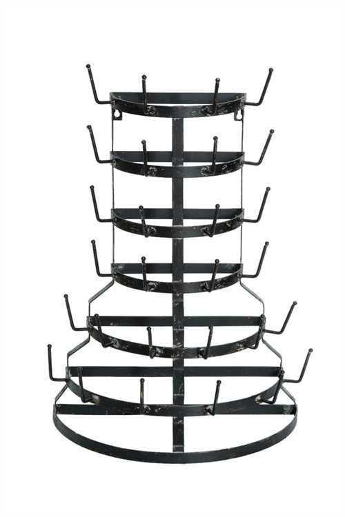 """Farmhouse Dry Rack - The Halfsie!-Clearly we've become obsessed with finding different types of these funky, functional dry racks. But, seriously....this one can sit OR hang. Absolutely, positively the best of both worlds!Half Round Farmhouse Drying Rack measures 19 1/4"""" x 26 1/4"""""""