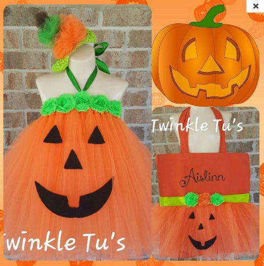 Halloween Pumpkin Jack O Lantern Tutu Dress – Twinkle Tu's