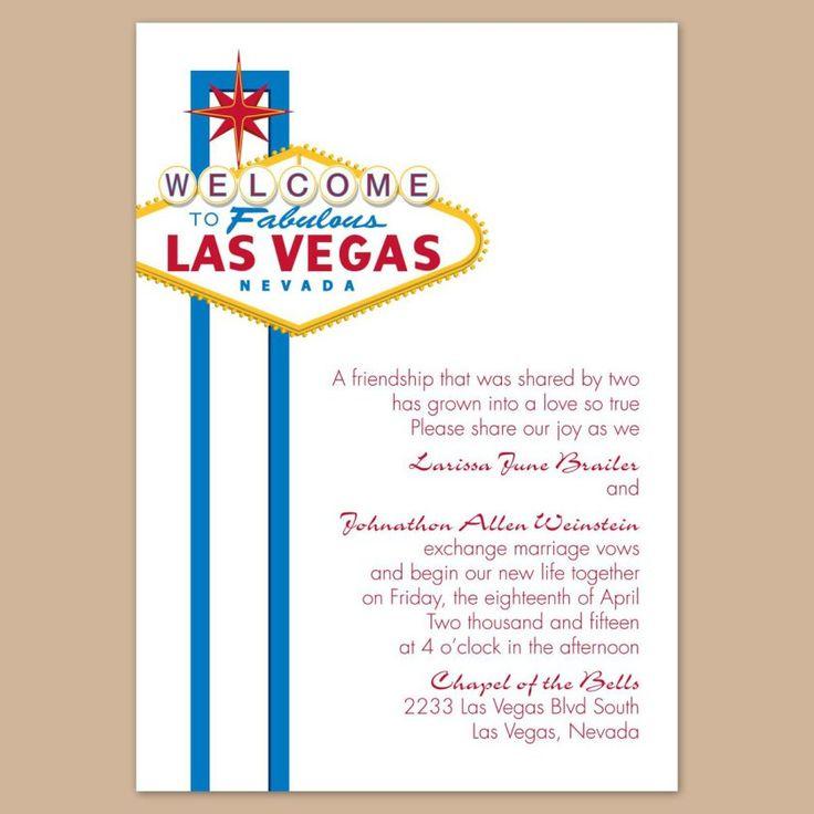 Las Vegas Wedding Announcement Wording