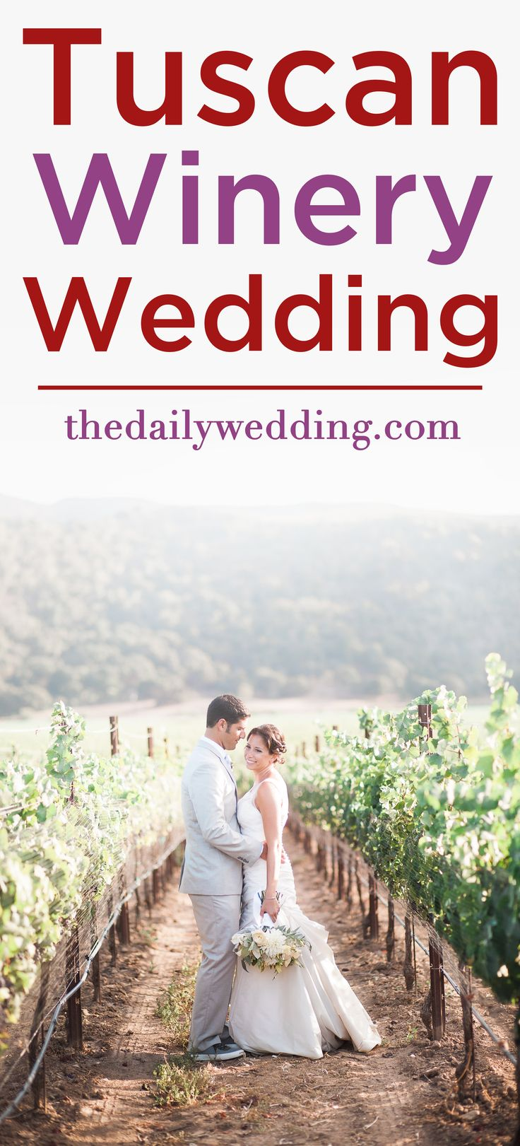 What a lovely wedding! The winery wedding of our dreams! View the full wedding here: http://thedailywedding.com/2015/12/14/tuscan-winery-wedding-iliana-ryan/