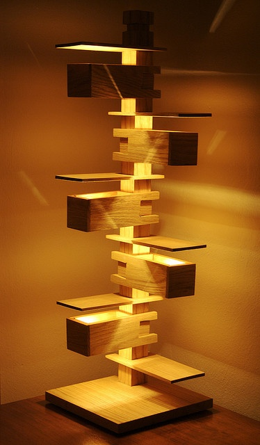 Taliesin Table Lamp or Jenga Lamp by rothfilm