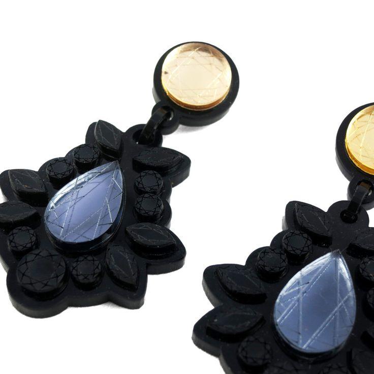 """Sofía"" black earrings   $40   #UnderOurSky"