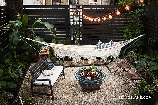You won't believe the before to this charming backyard. Check it out on our blog!