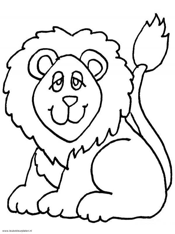 leeuw kleurplaat leeuw kleurboek kleurplaten voor