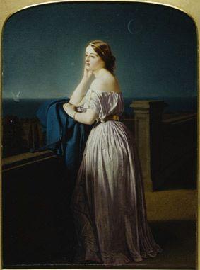 Portrait miniature of Louise von Alten, Duchess of Manchester, later Duchess of Devonshire (1832 - 1911) Watercolour on ivory; c. 1852 Robert Thorburn (1818 - 1885)