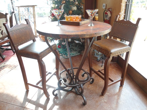 Mexican Cafe Table And Bar Stools