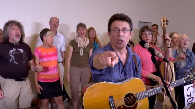 Environment Canada scientist Tony Turner is under investigation after writing and performing an anti-Conservative protest song called Harperman. The music video has some 54,000 hits on YouTube.