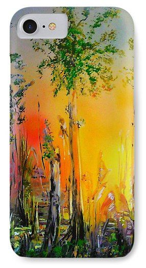 Forest Of Souls IPhone 7 Case  Printed with Fine Art spray painting image Forest Of Souls by Nandor Molnar (When you visit the Shop, change the orientation, background color and image size as you wish)