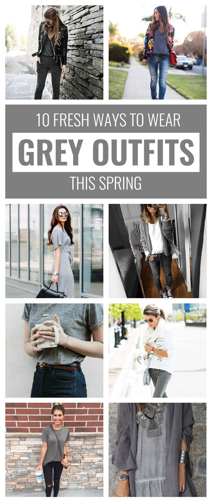 10 Fresh Ways to Wear Grey Outfits This Spring