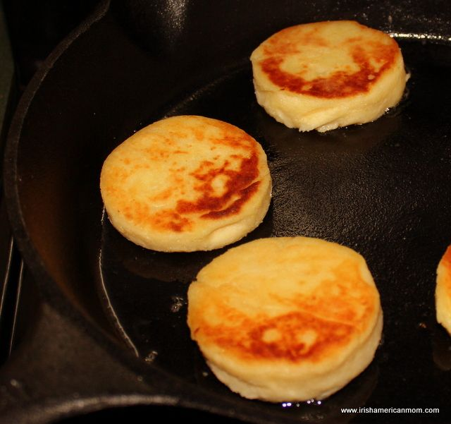 Potato cakes are a perfect way to use up left-over mashed potatoes.  Known as tattie scones in Scotland, potato scones in the Isle of Man, or fadge in parts of Northern Ireland, these savory, fried potato patties make a great side dish.