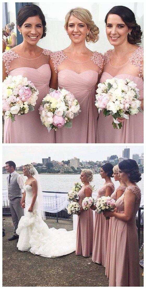 long bridesmaid dress,chiffon bridesmaid dress,cheap bridesmaid dress,custom…