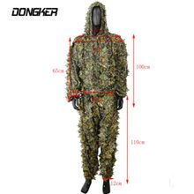 Hunting Ghillie Suit 3D Leaf Camouflage Camo Sniper Tactical Uniform Military Assault Disguised Breathable Set Jungle Clothes //Price: $US $24.97 & FREE Shipping //     #hashtag3