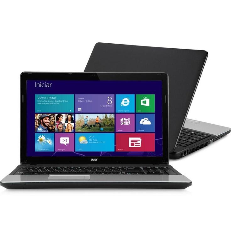 """Notebook Acer E1-571-6611 com Intel Core i5 6GB 500GB LED 15,6"""" Windows 8 - http://batecabeca.com.br/notebook-acer-e1-571-6611-com-intel-core-i5-6gb-500gb-led-156-windows-8shoptime.html"""