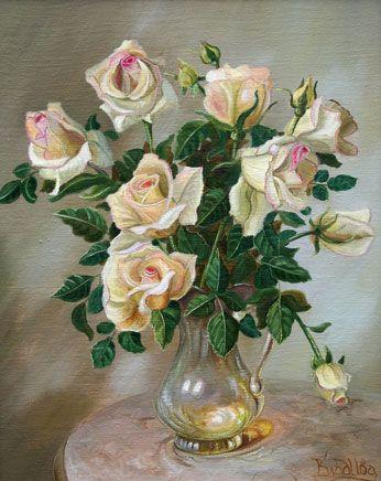 Розы   холст, масло, 50*40 см, 2007