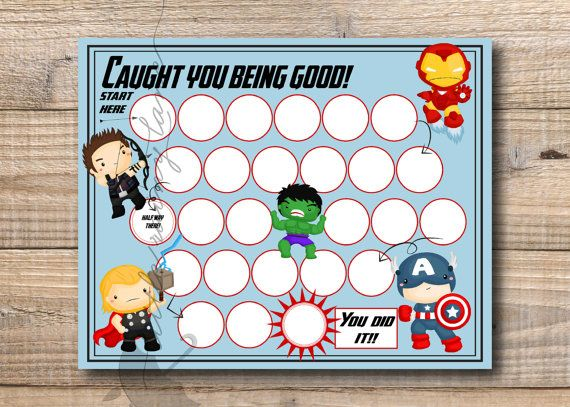Kids Reward Chart  Super Hero Reward Chart  by LittleRainyLane