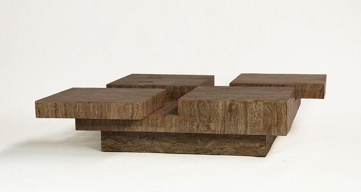 Versteend hout salontafel