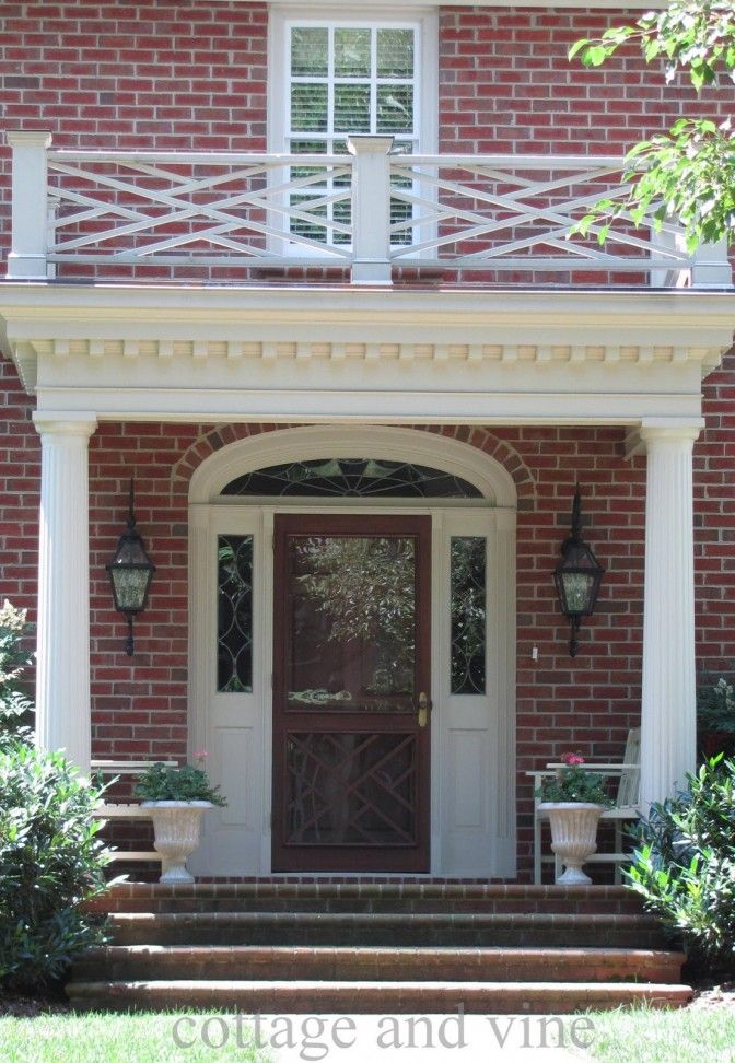 Front Elevation Designs With Balcony : Front porch portico designs design