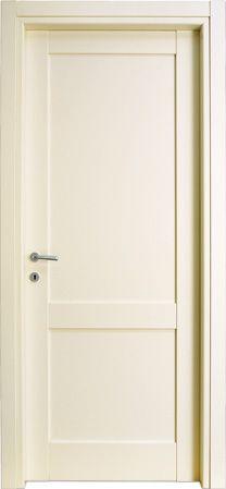 #porte interne modello 2F in legno listellare. #Laccato Ral 1013 (Avorio). Linea Bugnata  - Catalogo Aria.