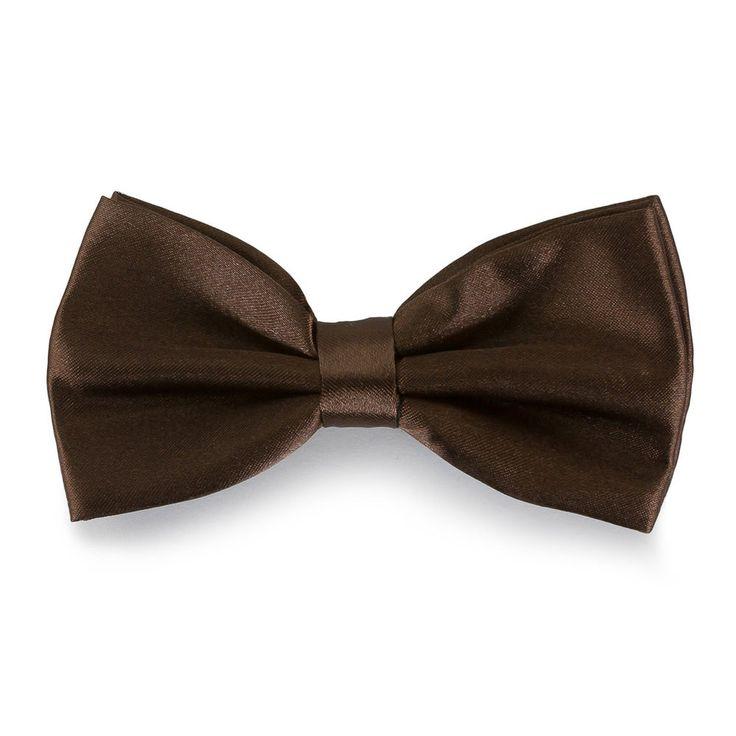 Fliege Schleife Hochzeit Anzug Smoking - braun in Feierlichkeiten / Anlässe   • Hochzeit • Krawatten / Fliegen • Fliegen