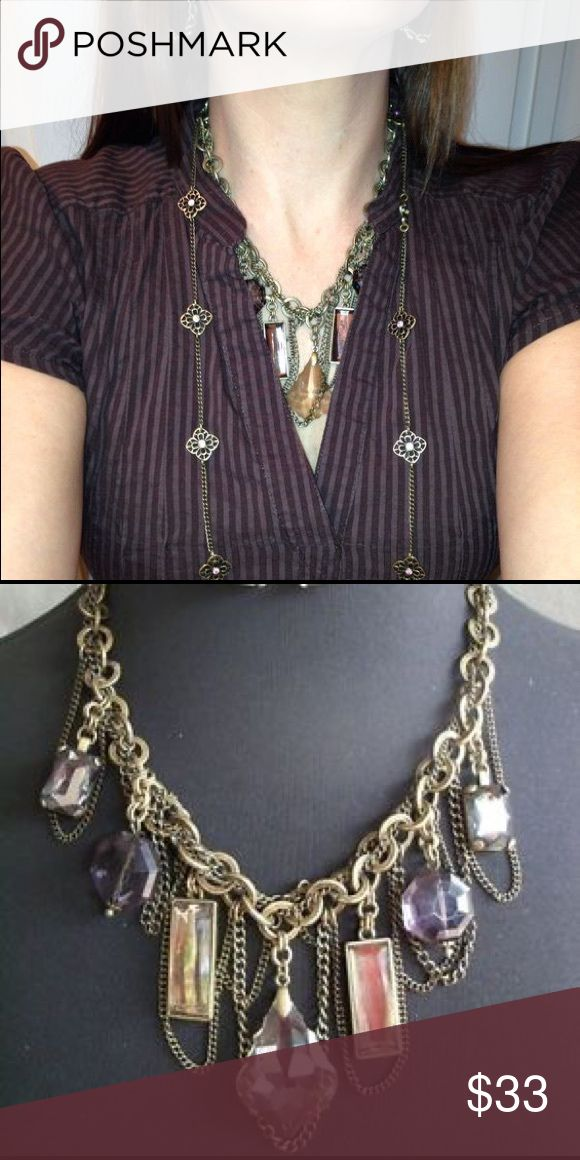 """Glamorous necklace LIMITED EDITION Antiqued matte brass plated glass & acrylic beads 16"""" necklace w/4"""" extender w/lobster claw closure Premier Designs Jewelry Necklaces"""