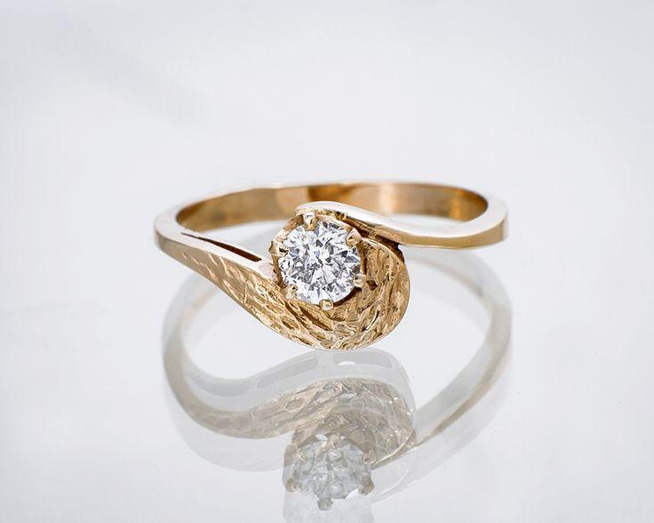 Pierścionek z diamentem    #Sklep #Złoto-Orla #Warszawa #diament #pierścionek #złoto #zaręczyny #biżuteria