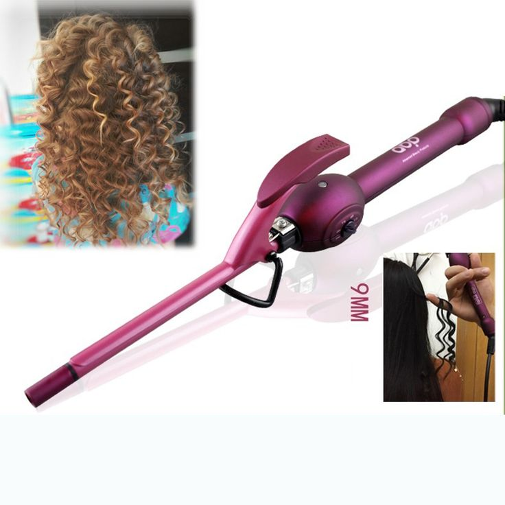 9mm curling iron hair curler professional hair curl irons curling wand roller rulos krultang magic care beauty styling tools