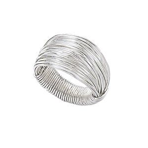 """Maybe a DIY project for me to attempt based off the pict. Original Description: """"Silver Wire Wrap Ring"""""""